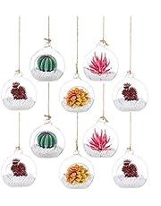 Wiszący świecznik typu tealight Mini szklana kula ornament, średnica 6 cm szkło terrarium globus na wesele, dekoracja choinki, dekoracja domu