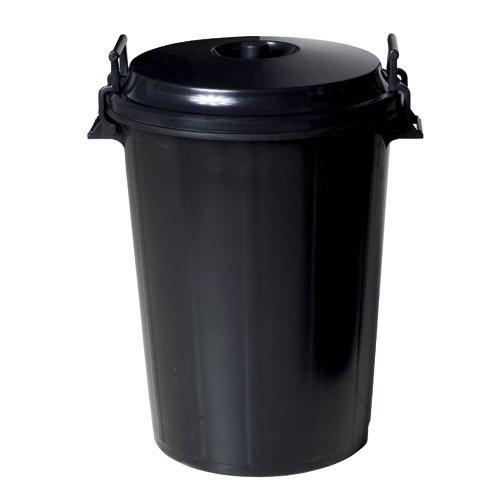 WOLFPACK 10010042 Cubo Basura Plastico Comunidad Con Tapa 100 Litros