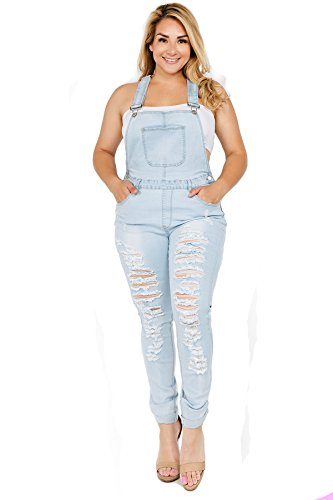 dd950a4c836 TwiinSisters Women s Plus Size Natural Curve Enhancing Slim Fitted Overalls  with Comfort Stretch