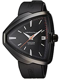 Ventura Elvis80 Automatic Black Dial Black PVD Mens Watch H24585331