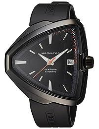 Hamilton Ventura Elvis80 Automatic Black Dial Black PVD Mens Watch H24585331