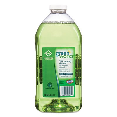 Green Works 00457CT All-Purpose and Multi-Surface Cleaner, Original, 64oz Refill (Case of 6) by Greenworks