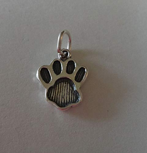 - Sterling Silver Small 15x12mm Dog Bear Panther Lion Cat Tiger.Paw Print Charm Jewelry Making Supply, Pendant, Sterling Charm, Bracelet, Beads, DIY Crafting and Other by Wholesale Charms