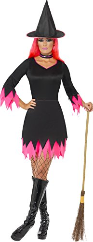 Smiffys Women's Black & Pink Witch (Baby Girl Witch Halloween Costumes Uk)