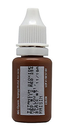 15ml MICROBLADING BioTouch RAISIN Cosmetic Pigment Color Tattoo Ink LARGE Bottle pigment professionally tested permanent makeup supplies Eyebrow Lip Eyeliner microblading supplies pigment by BioTouch