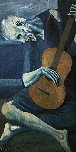 Pablo Picasso The Old Guitarist Fine Art Print (Unframed 12x24 Poster)