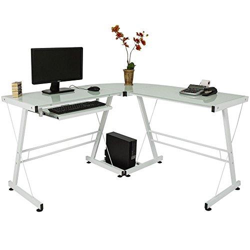TimmyHouse L-Shaped Desk Corner Computer Gaming Laptop Table Workstation Home Office Desk