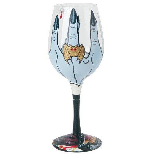 Santa Barbara Design Studio GLS11-5527F Lolita Love My Wine Hand Painted Glass, I Vant to Drink Your Vino -