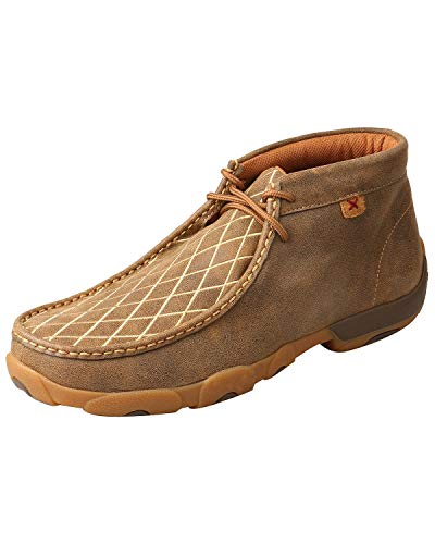 Twisted X Men's Driving Moccasin Shoes Moc Toe Brown 9 D (Mens Driving Moc Slip)