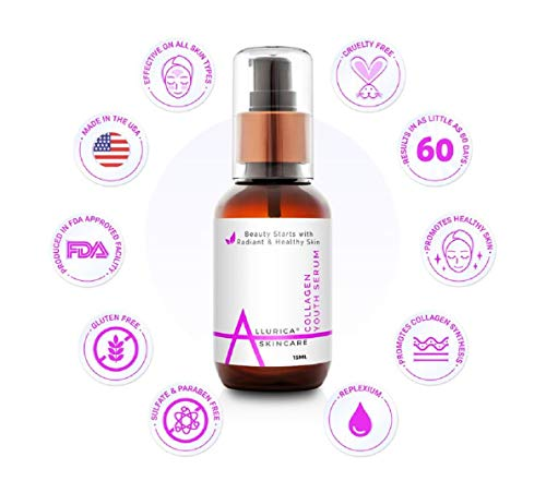 416rEuu1cPL - Collagen Serum Anti-Aging Face Cream for Dry/Wrinkled, Sagging Skin. Clinically Shown to Increase Collagen by 60%. Works 20X Faster Than Other Peptides