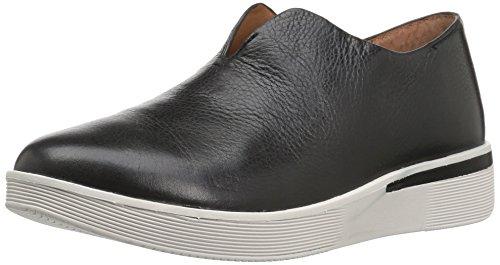 Gentle Souls Womens Hanna Platform Slip on Fashion Leather Sneaker Black