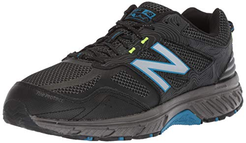 New Balance Men's 510v4 Cushioning Trail Running Shoe, Magnet/Black/Reflective, 7.5 D US by New Balance (Image #1)