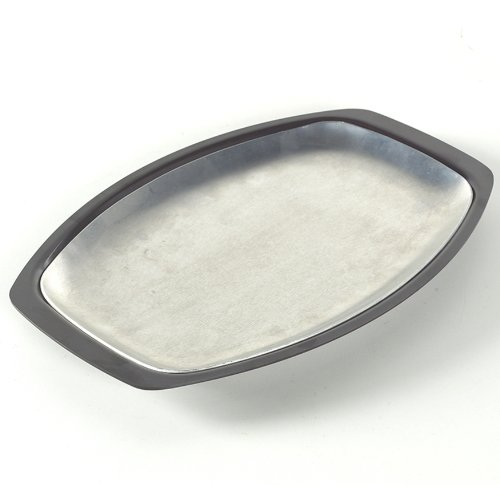 Steel Platter Stainless Sizzling (Nordic Ware 365 Indoor/Outdoor Grill N' Serve Plate)