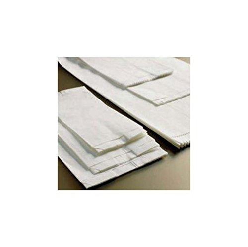 100 bolsas blancas de papel kraft, 12 x 23 cm + 9 cm, 40 gr ...
