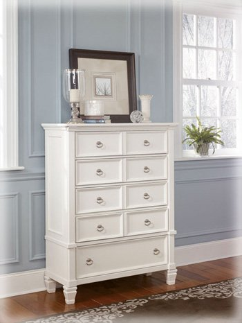 Bon Cottage Style White Prentice Bedroom Chest Of Drawers