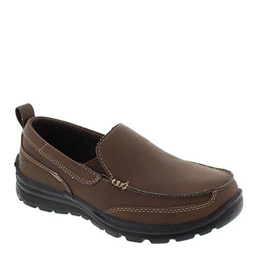 Deer Stags Zesty Casual Slip-On (Little Kid/Big Kid), Brown, 6 M US Big (Boys Brown Leather Shoes)