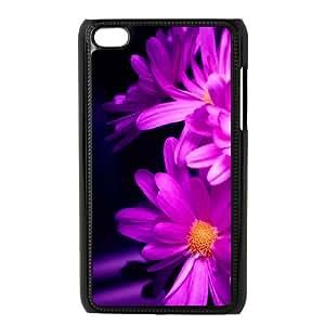 iPod Touch 4 Case Black Daisy Flower D2297123