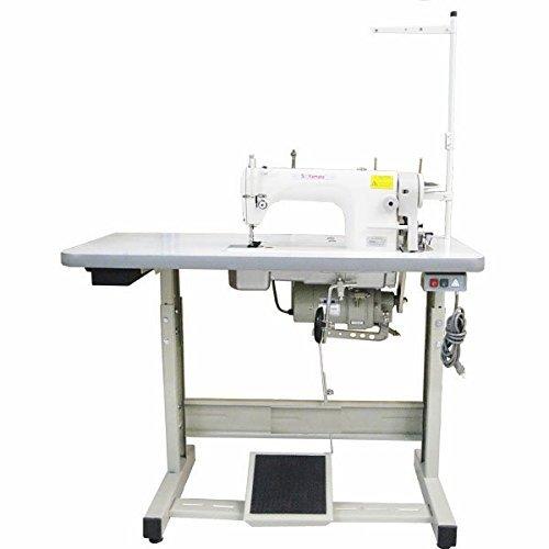 Yamata FY5565 Lockstitch Industrial Sewing Machine Servo Motor+Table fits Juki 8700H, big hook.Assembly ()
