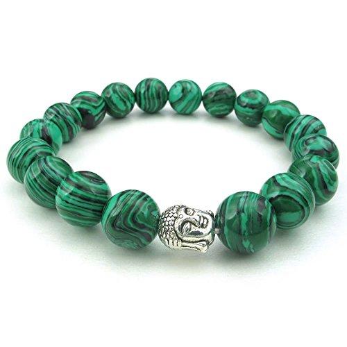 KONOV 10 12mm Gemstone Malachite Bracelet