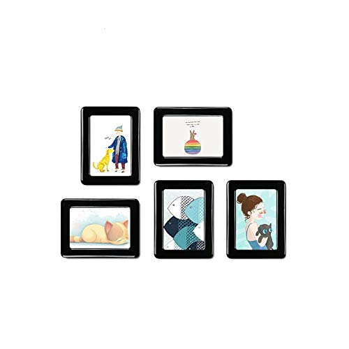 NAMI Picture Frames Decorative Magnetic Crystal Photo Frame Fridge Magnets Refrigerator Fridge Decor Picture Frames Flexible Multicolor Square Frame (White 7 inch) by NAMI (Image #1)