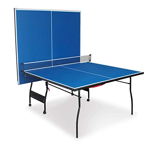 Cirocco Foldable 4 Piece Table Tennis Ping Pong Play   Official Tournament Size 9'x5'   Portable Heavy Duty Sturdy Durable   for Kids Adult Playback Indoor Outdoor Home Competition Game Room Basement ()