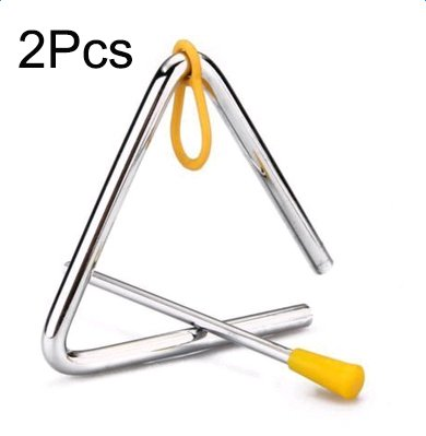 Price comparison product image 2Pcs Freedi Musical Instruments Triangle 4''Angle Iron Preschool Music Triangle