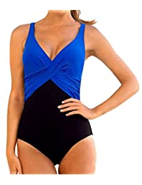 Upopby Women's Tummy Control One Piece Plus Size Swimsuit Monokinis Swimwear