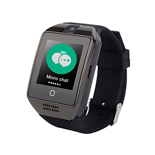 GPS Tracker For Kids Children Smart Watch Kids Wrist Watch Anti-lost SOS Call Location Finder Remote Monitor Pedometer Functions Elderly Parent Control By iPhone and Android Smartphones APP (Black) by OXOQO
