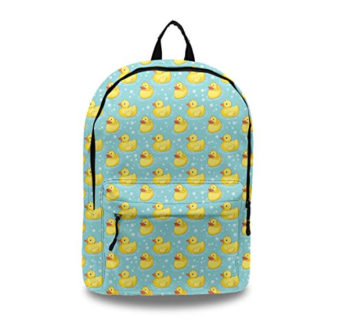 YongColer Fashion Durable Unisex Backpack, Water Resistant Anti Theft Notebook Computer Bag Middle High School Student Bookbag Travel Daypack - Yellow Painting Rubber Duck ()