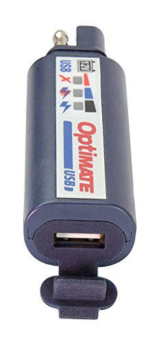 OptiMATE USB O-100, 2400mA USB charger, SAE input, with vehicle battery protection.