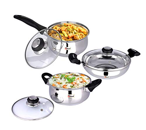 Ebun-Cooking-Set-for-Kitchen-Stainless-Steel-Induction-Base-Medium-Size-Kitchen-Set-for-Home-Cooking-Combo-of-Kadai-Cooking-Pot-and-Sauce-Pan-with-Glass-lid