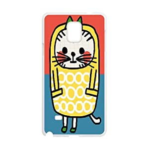 Samsung Galaxy Note 4 Cases Kitty in Yellow Coat,, [White]