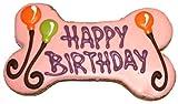 Pawsitively Gourmet Happy Birthday Bone, Pink (6-Inch), 6-Count Bones, My Pet Supplies