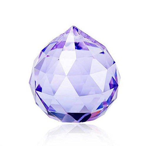 Purple Crystal Ball Prism Pendant Suncatcher, 30mm
