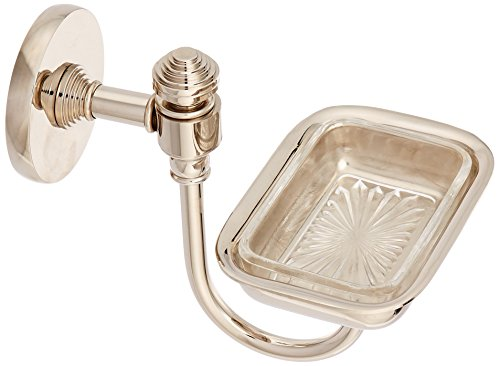 Allied Brass Polished Soap Dish - Allied Brass SB-32L-PNI Lucite Soap Dish, Polished Nickel