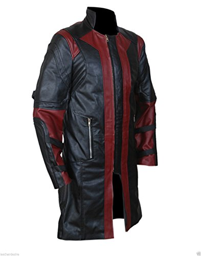 Leatherly Manteau Homme Hawkeye - Avengers Jeremy Renner's Faux (synthétique) Cuir Manteau