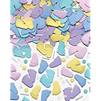 Amscan Delicate Pitter Patter Relieveed Party Confetti Mixes, 1.2 oz, Multi