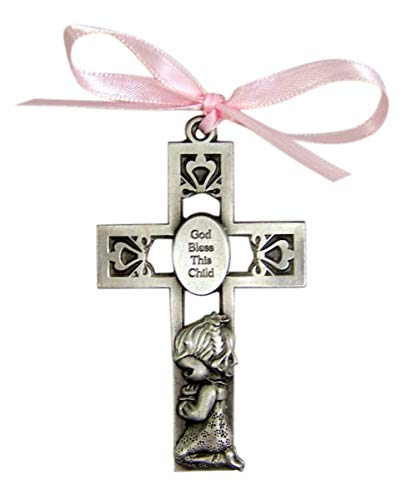 - God Bless This Child Baby Girl Cradle Medal 3 Inch