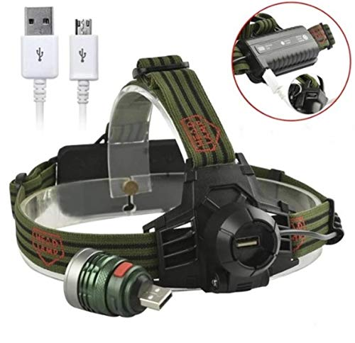 (1 Pack 8000 Lumen 6W 3 Mode Q5 XPE LED Headlamp Ultra Xtreme Waterproof Headlights Hair-raising Fashionable High Lumens Bright Light Hiking Running Hunting Camping Tactical Flashlight, Type-01)