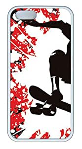For SamSung Galaxy S4 Phone Case Cover -Skateboard Thrash Hard Soft Case Back For SamSung Galaxy S4 Phone Case Cover White