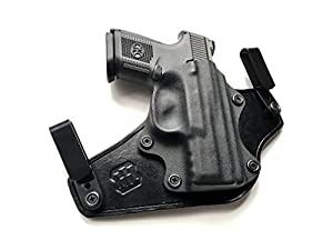 IWB Hybrid Holster FNS-9C (Black Leather/Black Kydex) Made in Detroit, MI USA