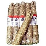 5 pk PREMIUM PRODUCTS NATURAL JUTE ROPE - 15m
