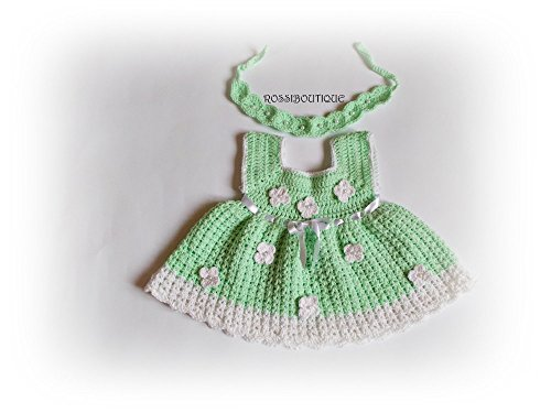 Buy hand crochet baby dresses - 6
