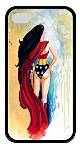 iPhone 4S Case,Wonder Woman TPU Custom iPhone 4/4S Case Cover Black