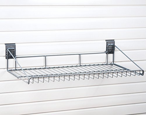 StoreWALL Large Wire Shelf with CamLoks for Storage on Garage Slatwall Panels by StoreWALL