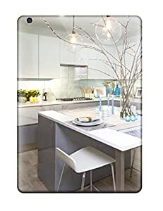 High Quality Subtle Blue Accents In Modern White Kitchen Case For Ipad Air / Perfect Case