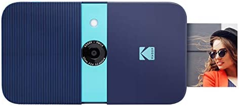 KODAK Smile Instant Print Digital Camera – Slide-Open 10MP Camera w/2×3 ZINK Printer (Blue) Sticker Edition.