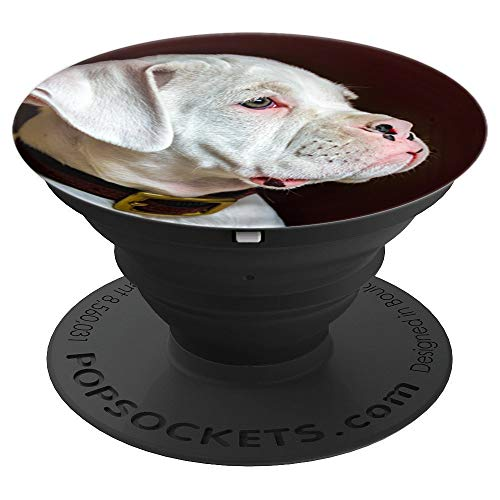 - White Boxer Puppy Gift - PopSockets Grip and Stand for Phones and Tablets