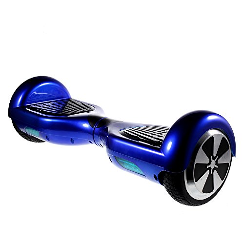 Amorus X1 2-Wheel Smart Electric Self Balancing Scooter Skateboard Max 15kmh - Safe and Easy to Use (Samsung Battery Cells 2-Motor Driver) (Blue)