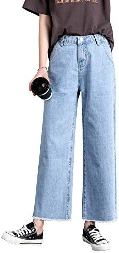 Fdbvdkz Jeans De Mujer Tallas Grandes Denim Mujer Pantalones Anchos Jeans Pantalones Elasticos De Cintura Alta Ropa Para Mujer Pantalones Casuales Amazon Es Deportes Y Aire Libre